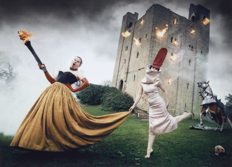 Fashion designer Alexander McQueen and magazine editor Isabella Blow