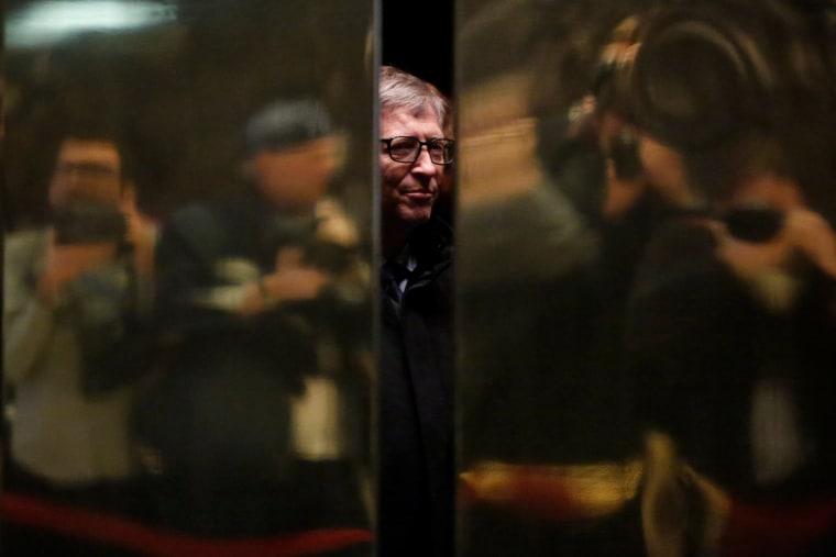 Image: Businessman Bill Gates arrives at Trump Tower in Manhattan, New York City