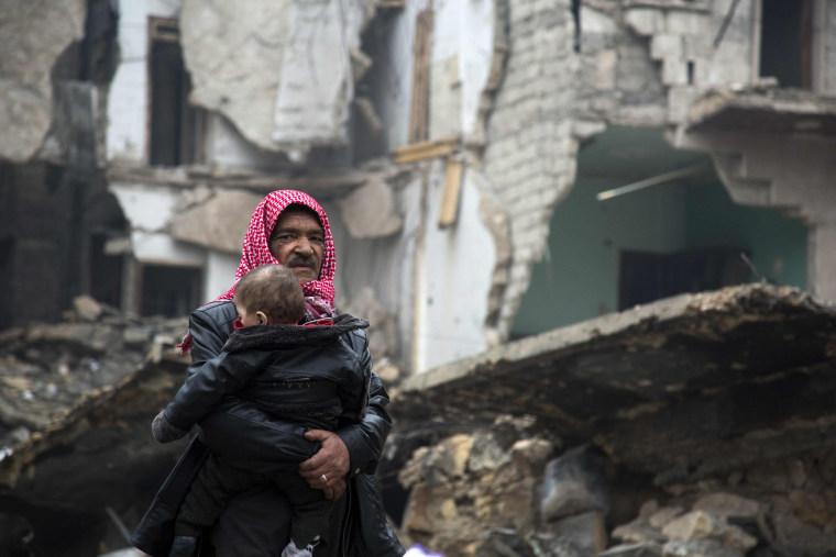 Image: TOPSHOT-CONFLICT-SYRIA-ALEPPO
