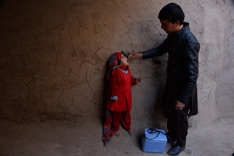 Image: BESTPIX TOPSHOT-AFGHANISTAN-HEALTH-POLIO