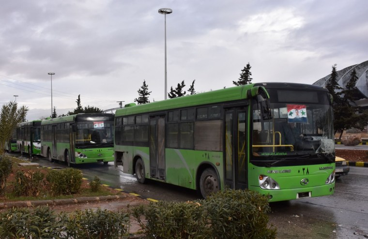 Image: Buses in Aleppo, Syria