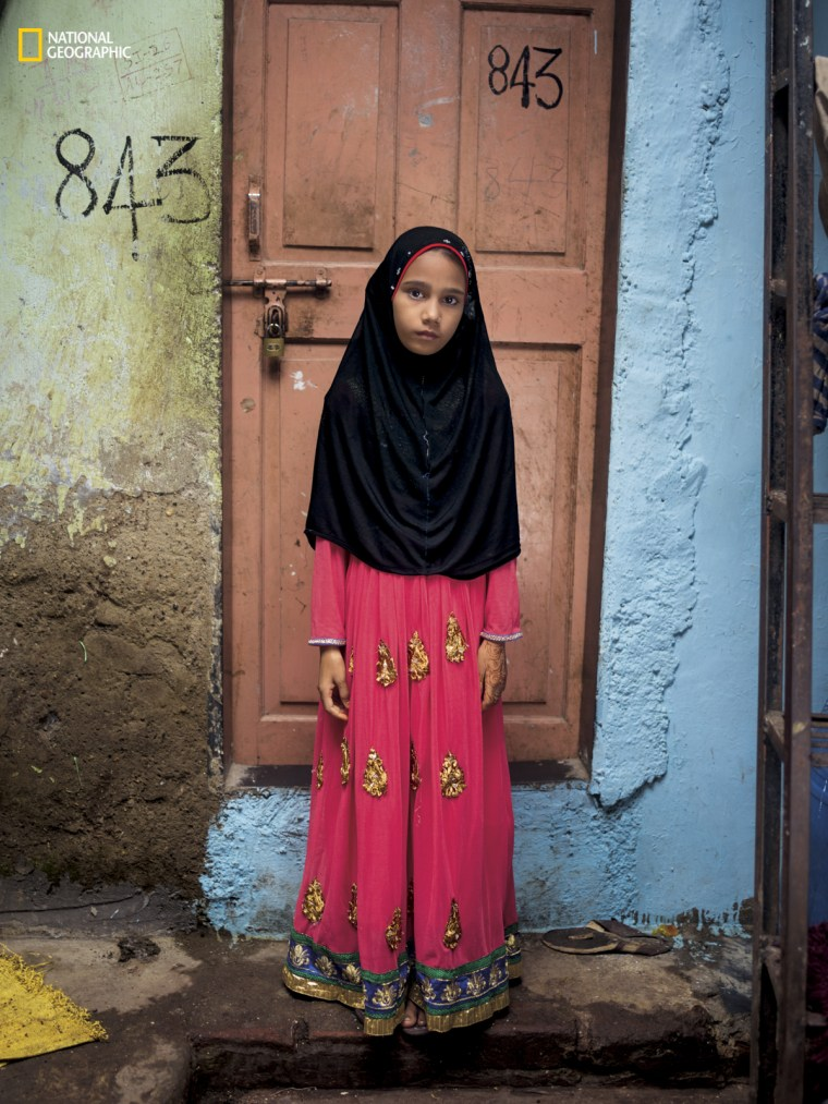 "Alfia Ansari, Mumbai, India. ""We won't get education in school, but boys will be educated, and therefore they can travel anywhere, but girls can't."""