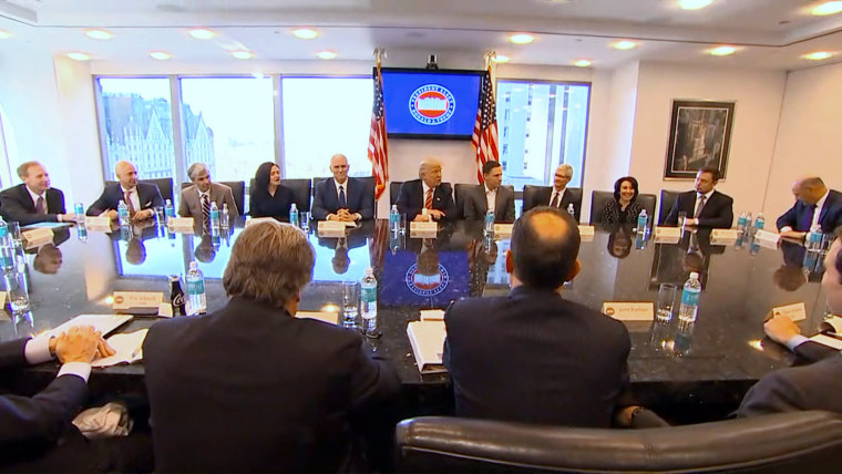 Image: President-elect Donald Trump holds a roundtable discussion with tech industry leaders