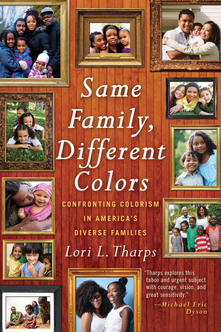 """The cover of """"Same Family, Different Colors"""" by Lori Tharps."""