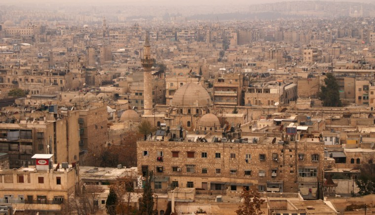 Image: A general view shows the Old City of Aleppo as seen from Aleppo's historic citadel in 2009