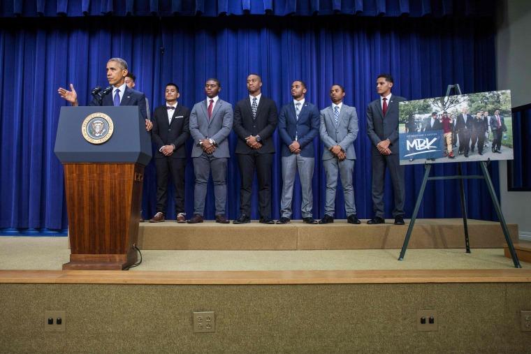 Image: US-15-POLITICS-OBAMA-MY BROTHERS KEEPER SUMMIT