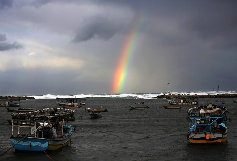 Image: A rainbow over Gaza City