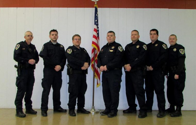 Former members of the Bunker Hill police force.
