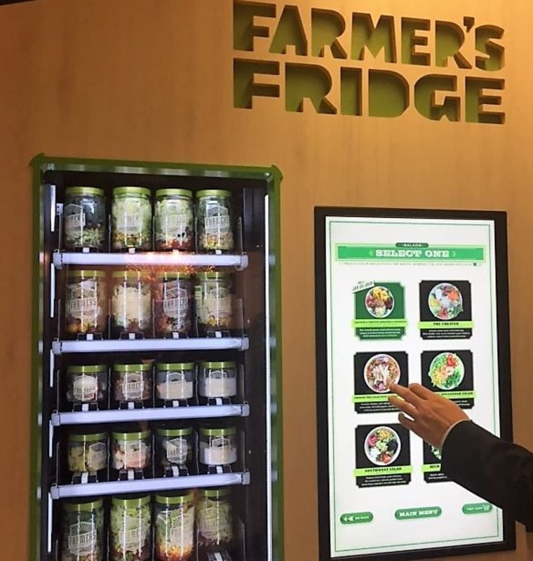 Farmer's Fridge uses a vending machine to combine the food trends of local, healthy, authentic and convenient.