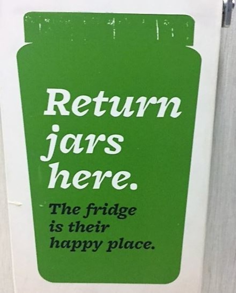 Farmer's Fridge jars are part of a recycling program.