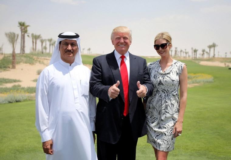 Image: Donald and Ivanka Trump with Dubai developer Hussein Sajwani