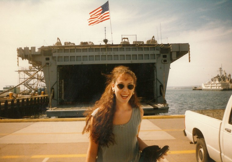 Image: Mandy Martinson during a trip to California in 2001