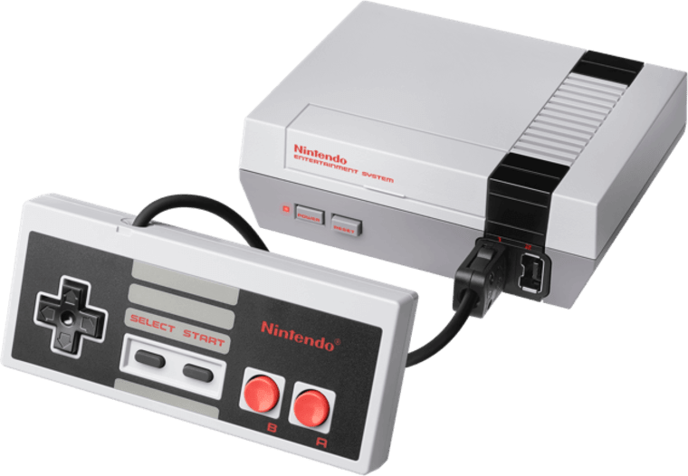 This mini version of the original cartridge-based system comes pre-loaded with 30 classic faves like Donkey Kong, Super Mario and Galaga.