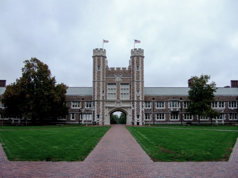 Image: Brookings Hall, one of the symbols of Washington University in St. Louis.