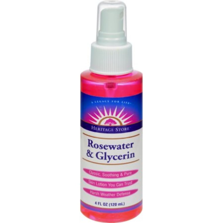 Rosewater face products