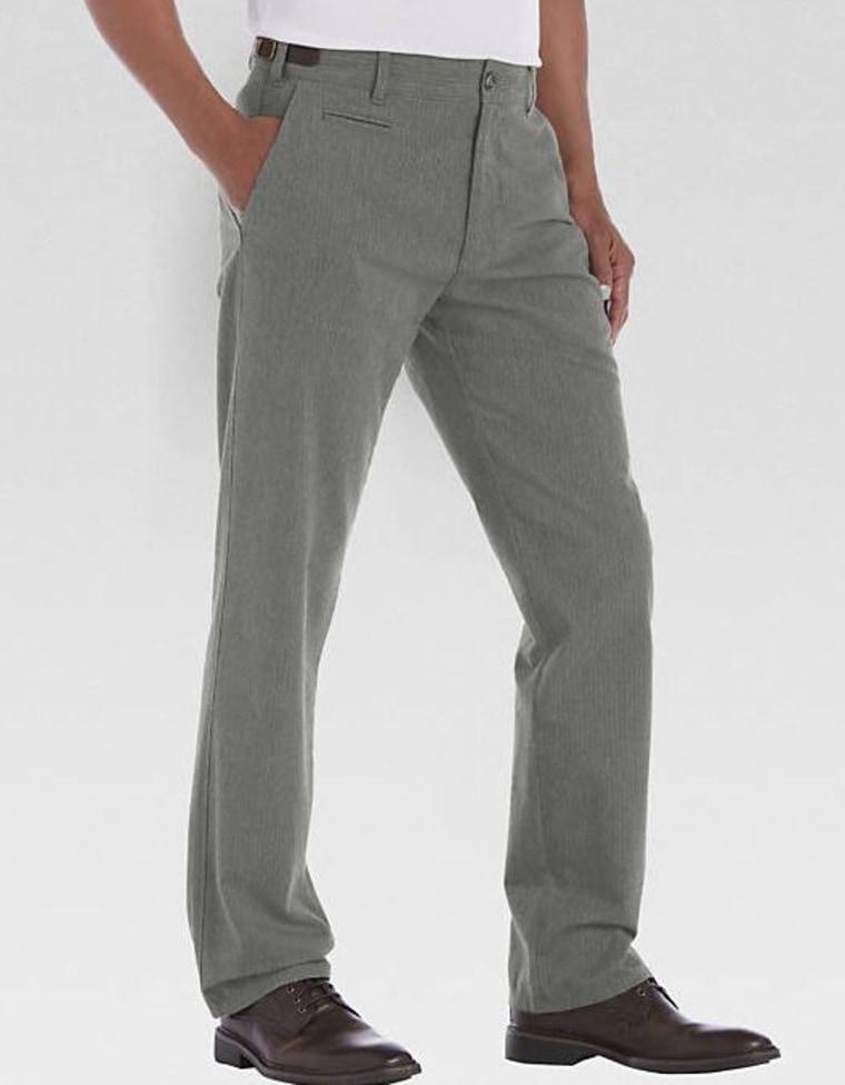 Gray Herringbone Pants