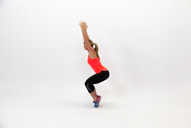 Chair squat and pulse
