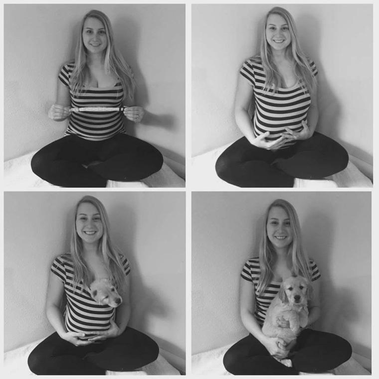 Carrie Jansen maternity shoot fakeout