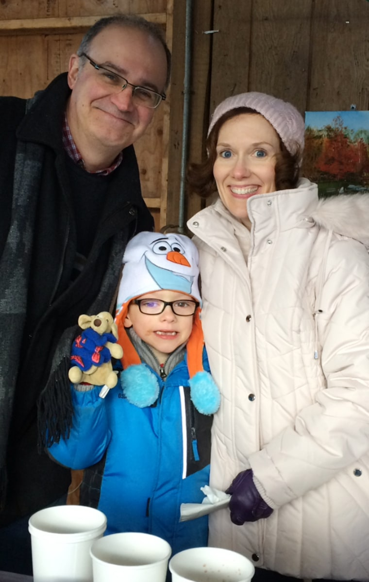 Matthew McDonnell raises $6,500 from a hot cocoa stand for other kids with cancer.