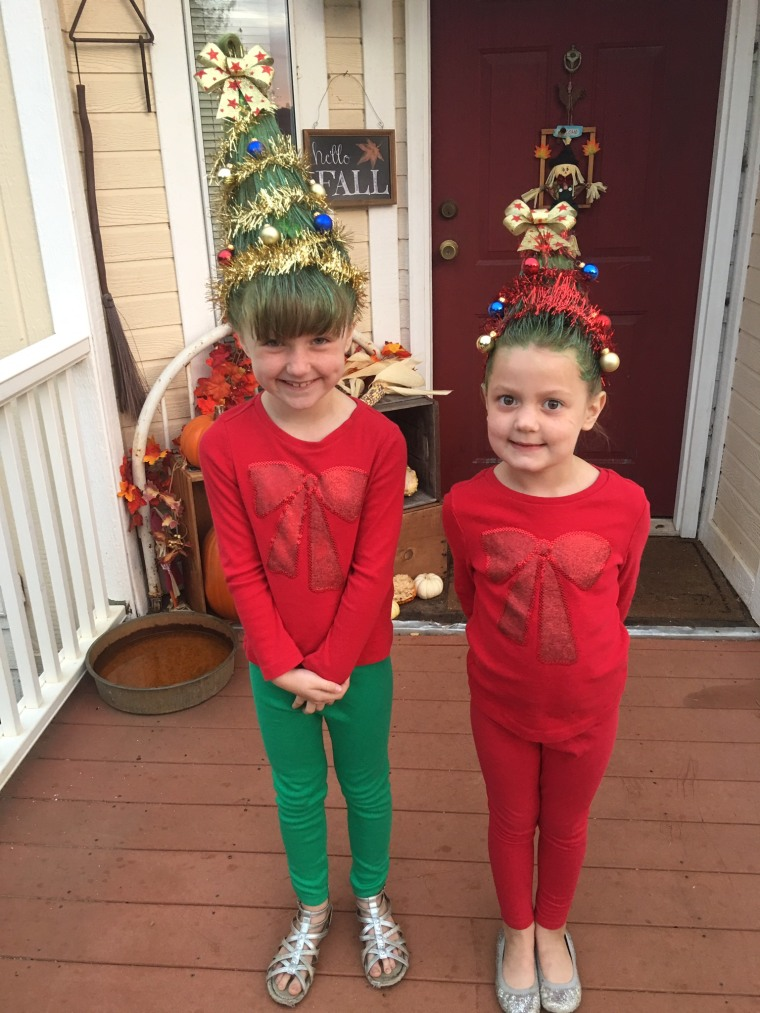 Christmas tree hair was a big holiday trend in 2016.