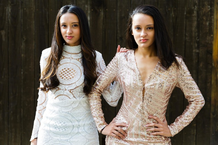 Indian American twins Poonam & Priyanka Shah gear up for a photoshoot in Chicago.