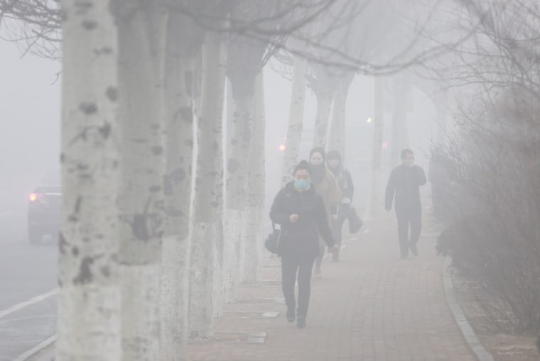 Image: Heavy Smog Hit North China