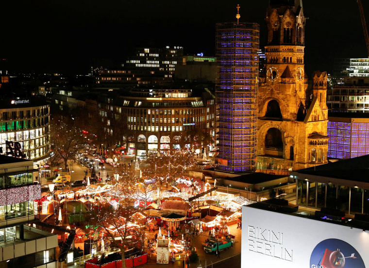 Image: FILE PHOTO:  A general view shows the the Christmas market of main shopping street Kurfuerstendamm in Berlin