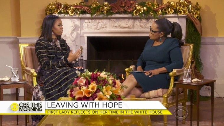 First Lady Michelle Obama and journalist Oprah Winfrey