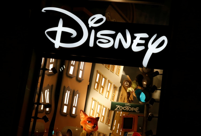 Image: The logo of the Disney store.