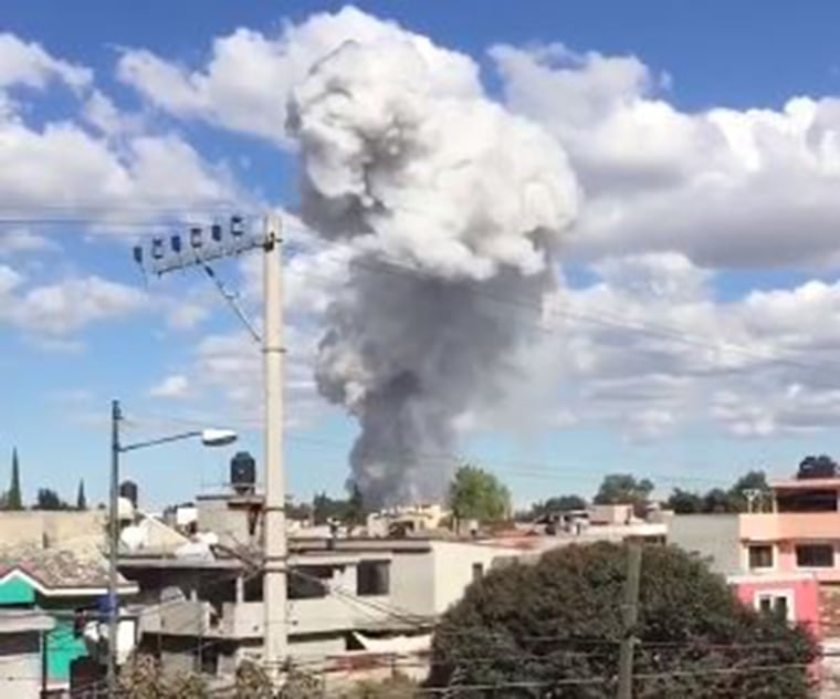 IMAGE: San Pablito Market explosion