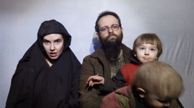 The video shows American hostage Caitlin Coleman and her Canadian husband Joshua Boyle, both captured in Afghanistan in 2012.
