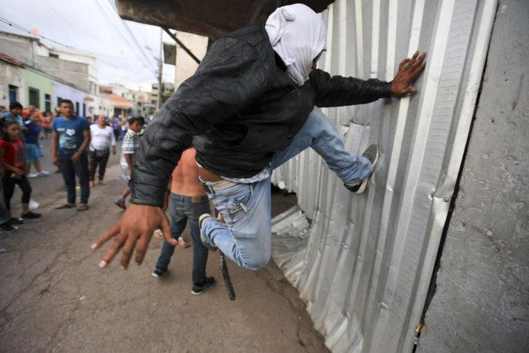 Image: Protest by street vendors in Tegucigalpa, Honduras