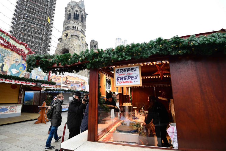 Image: The Berlin Christmas market reopened Thursday.