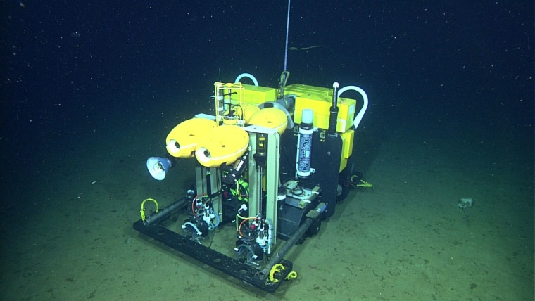 The rover was on the seafloor for 367 days, a world record mission length, before being recovered for maintenance.
