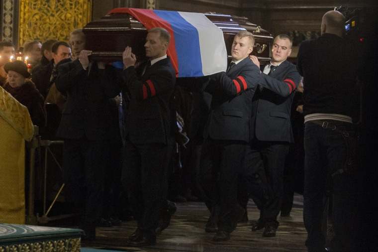 Funeral service for Russia's ambassador to Turkey Andrey Karlov