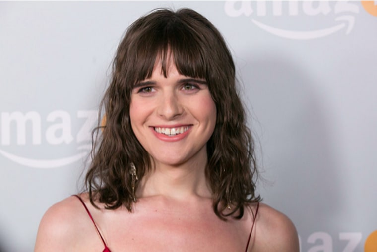 Hari Nef arrives for Amazon's Emmy Celebration at Sunset Tower Hotel on September 18, 2016 in West Hollywood, California.