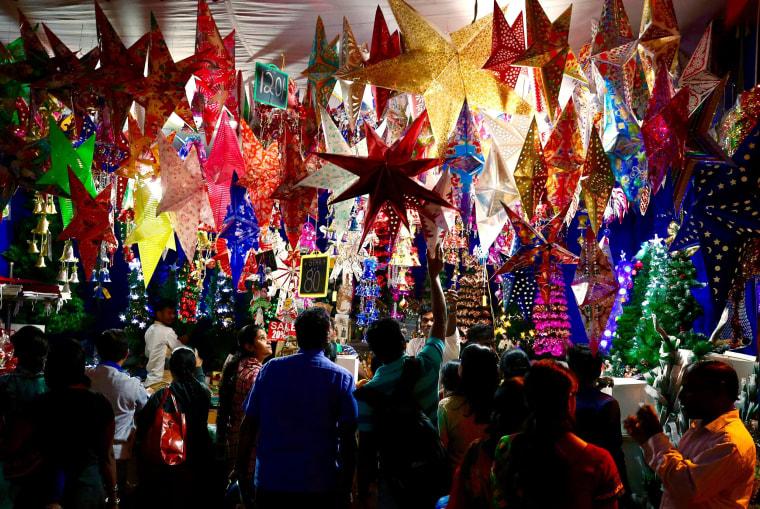 Image: Christmas preparations in Bangalore