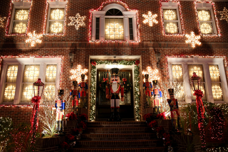 Image: A nutcracker stands in the doorway of this Dyker Heights home just before Christmas in Brooklyn, Dec. 21.