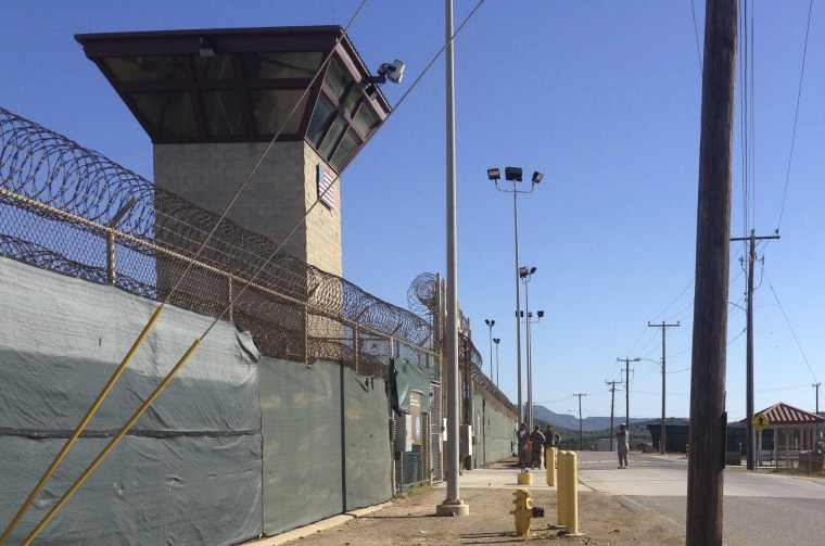 This Dec. 10, 2016 photo shows the exterior of Camp 6 at the detention center at the Guantanamo Bay U.S. Naval base, in Cuba, where the U.S. holds 59 prisoners, including 22 cleared for release. The military has consolidated all remaining prisoners in Camp 6 and Camp 7, leaving other parts of the detention center vacant.