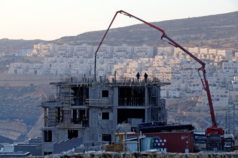 Image: FILE PHOTO: A construction site is seen in the Israeli settlement of Givat Zeev, in the occupied West Bank