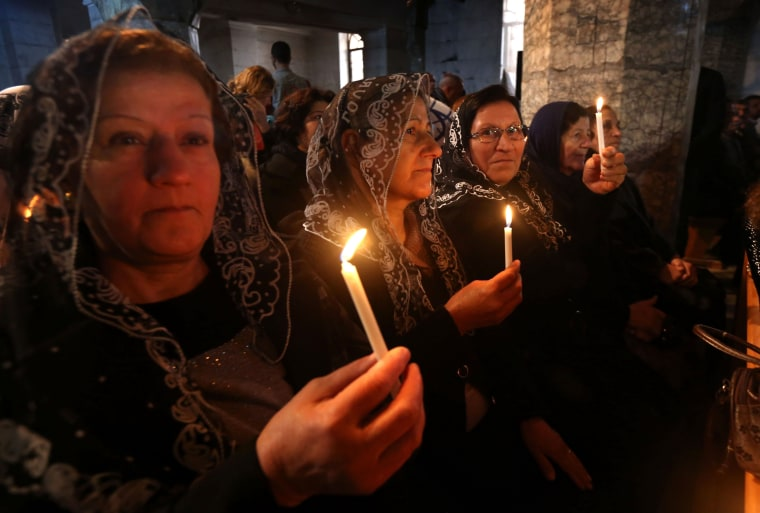 Image: CORRECTION-IRAQ-CONFLICT-RELIGION-CHRISTIANITY