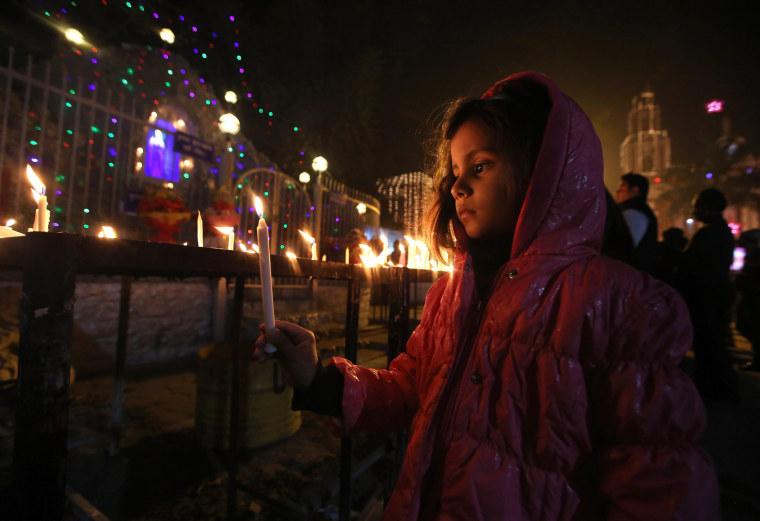 Image: Christmas Eve in New Delhi
