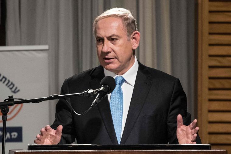 Image: ISRAEL-POLITICS-RELIGION-JUDAISM-HANUKKAH-NETANYAHU