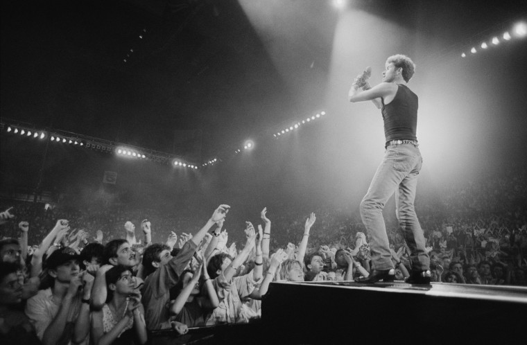 Image: George Michael performs on stage during