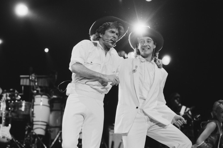 Image: George Michael and Andrew Ridgeley of Wham!
