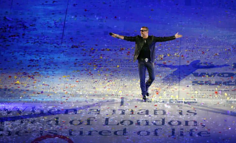 Image: Singer George Michael performs during the closing ceremony of the London 2012 Olympic Games at the Olympic Stadium