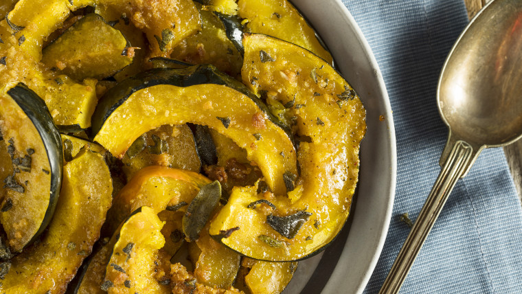 Baked Acorn Squash with Brown Sugar Glaze