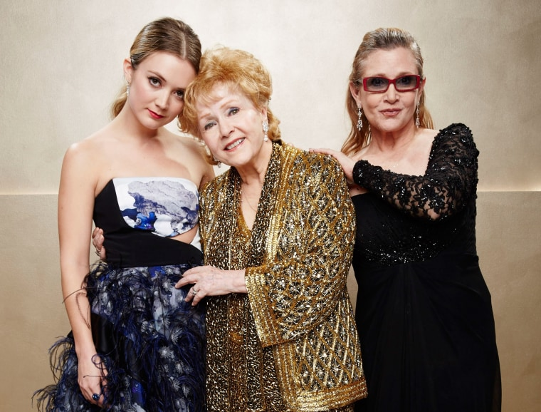 Billie Lourd, Carrie Fisher and Debbie Reynolds