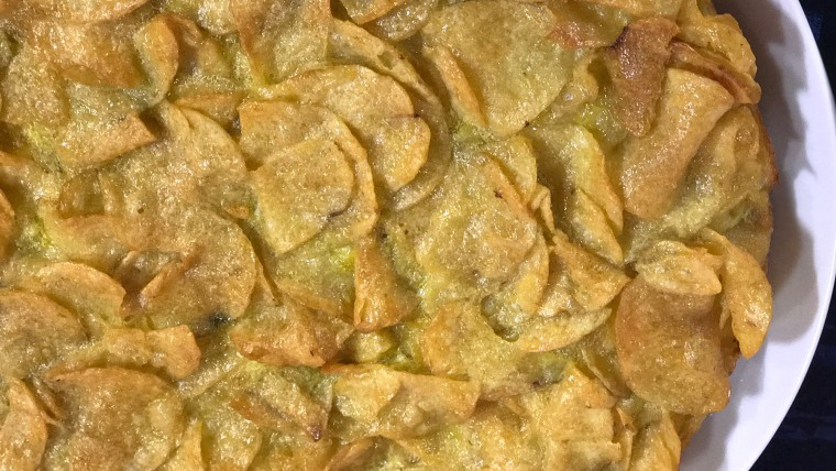 3-Ingredient Potato Chip Omelet