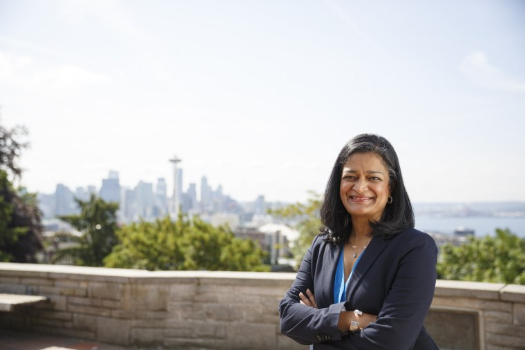 Newly elected Rep.-elect Pramila Jayapal will represent Washington's 7th Congressional District, located in Seattle. She is the first Indian-American woman elected to the House of Representatives.